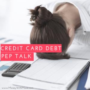 credit card pep talk